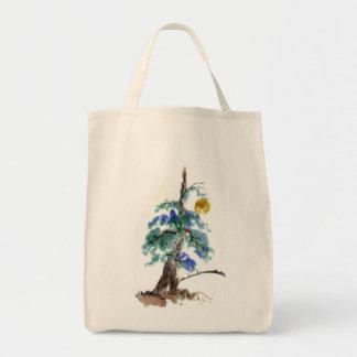 Los rayos de luna y el pino ajardinan, pintura de  bolsas