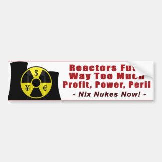 Los reactores funden demasiado beneficio/poder/pel pegatina para auto