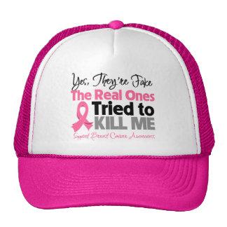 Los reales intentaron matarme - cáncer de pecho gorros