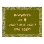 Los recicladores lo hacen otra vez tarjetas postales