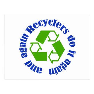 Los recicladores lo hacen tarjetas postales