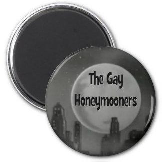 Los recién casados gay imán redondo 5 cm