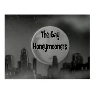 Los recién casados gay postales