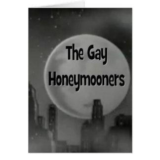 Los recién casados gay tarjeta de felicitación
