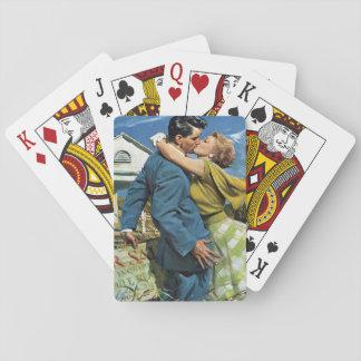 ¡Los recienes casados del vintage compran la Baraja De Cartas