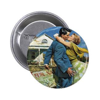 ¡Los recienes casados del vintage compran la Chapa Redonda 5 Cm