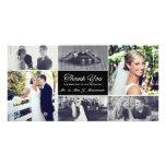 Los recienes casados le agradecen tarjeta de la tarjeta con foto personalizada