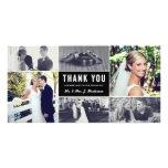 Los recienes casados le agradecen tarjeta de la tarjetas fotograficas