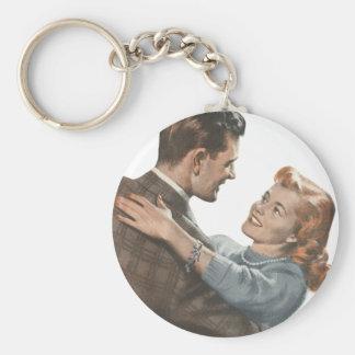 ¿Los recienes casados románticos del amor del Llavero Redondo Tipo Pin
