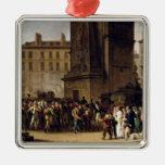 Los reclutas de 1807 adorno navideño cuadrado de metal