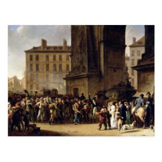 Los reclutas de 1807 tarjeta postal