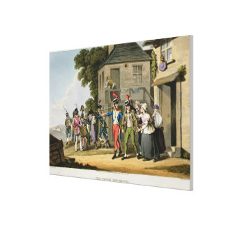 Los reclutas del francés, grabados por Matthew Dub Lona Envuelta Para Galerías