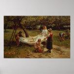 Los recolectores de Apple, 1880 Póster