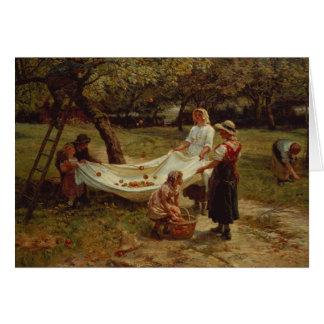 Los recolectores de Apple, 1880 Tarjeta De Felicitación