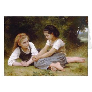 Los recolectores de la nuez, William-Adolphe Bougu Tarjeta De Felicitación