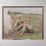 Los recolectores de la patata, 1898 poster