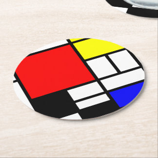 Los rectángulos del MOSAICO ajustan colorearon I + Posavasos Personalizable Redondo