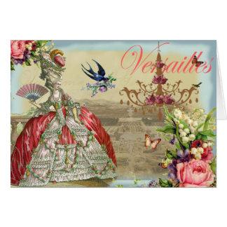 Los recuerdos de Versalles le agradecen Tarjeta De Felicitación