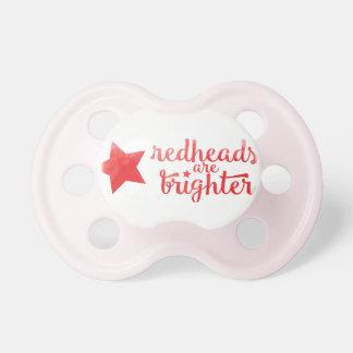 Los Redheads son un pacificador más brillante Chupete De Bebé