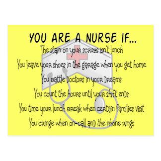 """Los refranes de la enfermera """"usted es enfermera postal"""