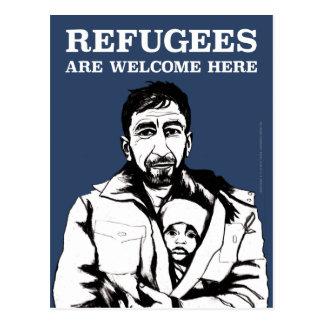 Los refugiados acogen con satisfacción la postal