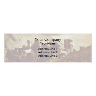 Los refugiados de Honore Daumier Tarjeta Personal