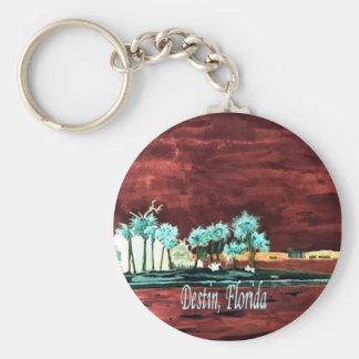 Los regalos abstractos del arte de FL de la playa  Llaveros