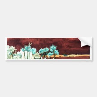Los regalos abstractos del arte de FL de la playa  Pegatina Para Auto