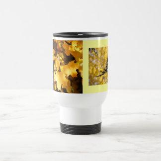 Los regalos Autum amarillo de las tazas del viaje