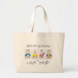 """Los regalos """"bebés de la ENFERMERA de NICU son mi  Bolsa Tela Grande"""
