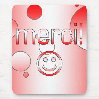 Los regalos canadienses franceses le agradecen mouse pad