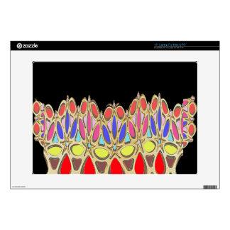Los regalos coloridos de la corona añaden cita de portátil 38,1cm skins