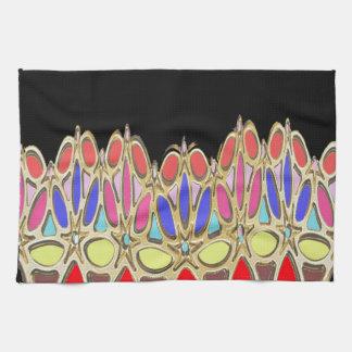 Los regalos coloridos de la corona añaden cita de toalla