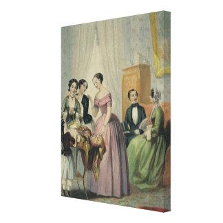 Los regalos de boda lona envuelta para galerias