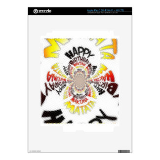 Los regalos de Hakuna Matata del feliz cumpleaños Pegatina Skin Para iPad 3