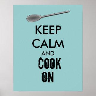 Los regalos de la cocina guardan calma y cocinan póster