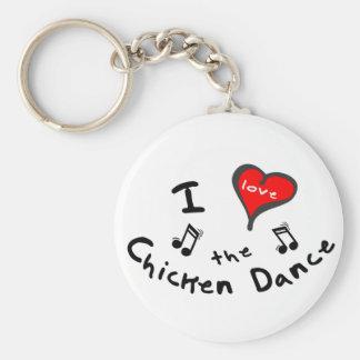 los regalos de la danza del pollo - corazón de I e Llaveros Personalizados
