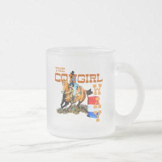Los regalos de la manera de la vaquera taza cristal mate