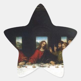 Los regalos de la última cena pegatina en forma de estrella