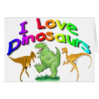 """Los regalos de los dinosaurios de los niños """"amo"""" tarjetas"""