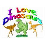 """Los regalos de los dinosaurios de los niños """"amo"""" postal"""