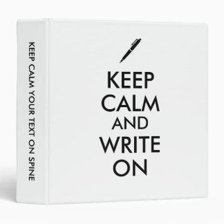 """Los regalos de los escritores guardan calma y carpeta 1 1/2"""""""