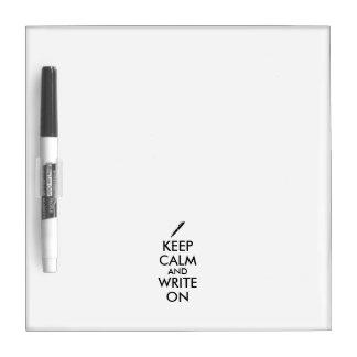 Los regalos de los escritores guardan calma y pizarras