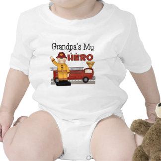 Los regalos de los niños del bombero del abuelo trajes de bebé