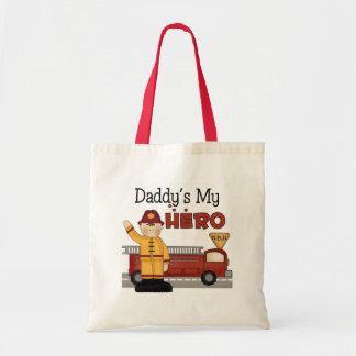 Los regalos de los niños del bombero del papá bolsas de mano