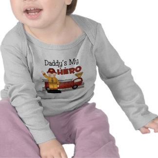 Los regalos de los niños del bombero del papá camiseta