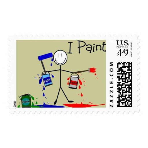 """Los regalos de los pintores """"pinto"""" diseño de la sellos"""
