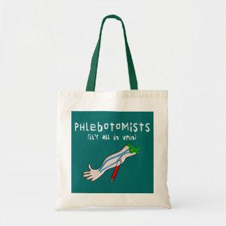 """Los regalos de Phlebotomist """"está todo en vena """" Bolsas Lienzo"""
