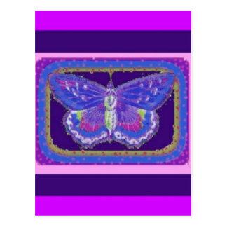 Los regalos del amante púrpura de la mariposa por  tarjeta postal