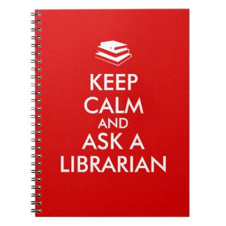 Los regalos del bibliotecario guardan calma para cuadernos